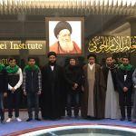 وفد من الشباب البحريني يزور مكتبة الامام الخوئي العامة